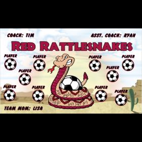 Rattlesnakes Vinyl Soccer Banner E-Z Order