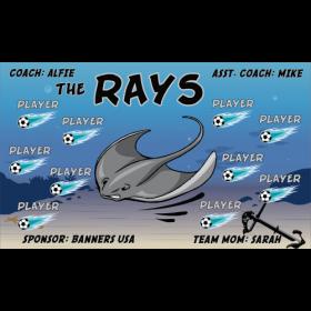 Rays Fabric Soccer Banner - E-Z Order