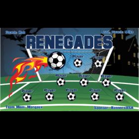 Renegades Fabric Soccer Banner E-Z Order