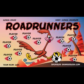 Roadrunners Fabric Soccer Banner - E-Z Order