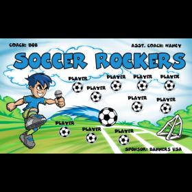 Rockers Fabric Soccer Banner - E-Z Order