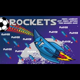 Rockets Vinyl Soccer Banner - E-Z Order