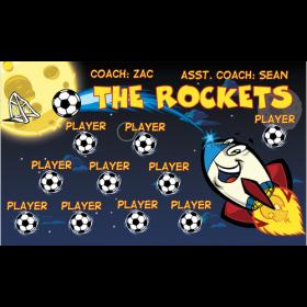 Rockets Vinyl Soccer Banner E-Z Order
