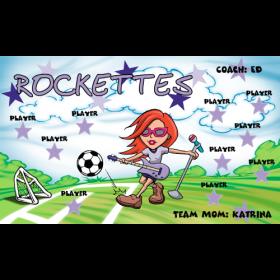 Rockettes Vinyl Soccer Banner - E-Z Order