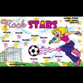 Rock Stars Fabric Soccer Banner - E-Z Order