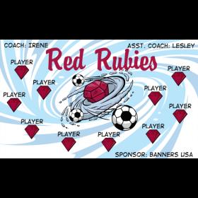 Rubies Red Vinyl Soccer Banner - E-Z Order