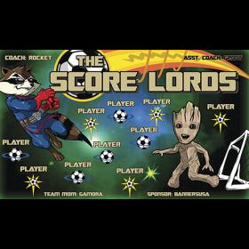 Score Lords Vinyl Soccer Banner - E-Z Order