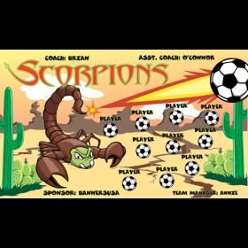 Scorpions Fabric Soccer Banner - E-Z Order