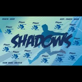 Shadows Fabric Soccer Banner - E-Z Order