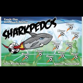 Sharkpedos Fabric Soccer Banner E-Z Order