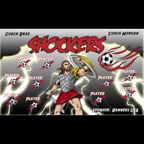 Shockers Fabric Soccer Banner - E-Z Order