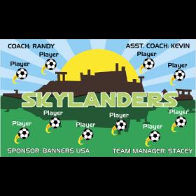 Skylanders Vinyl Soccer Banner - E-Z Order