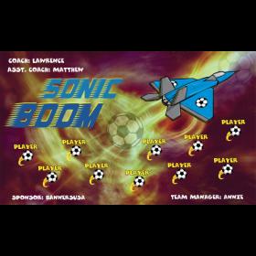 Sonic Boom Fabric Soccer Banner - E-Z Order