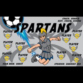 Spartans Vinyl Soccer Banner - E-Z Order