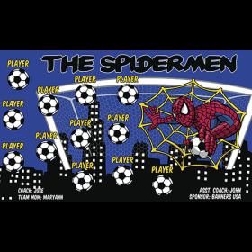 Spidermen The Vinyl Soccer Banner - E-Z Order