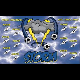 Storm Vinyl Soccer Banner - E-Z Order