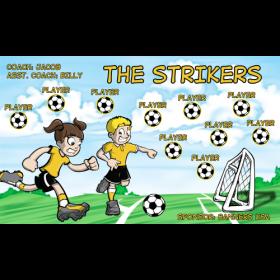 Strikers Vinyl Soccer Banner E-Z Order