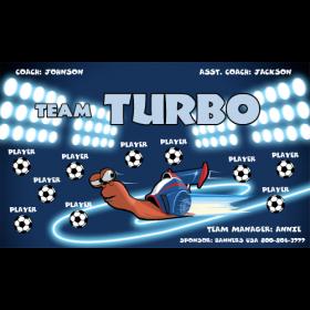 Turbo Fabric Soccer Banner - E-Z Order