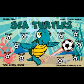 Turtles Sea Vinyl Soccer Banner - E-Z Order