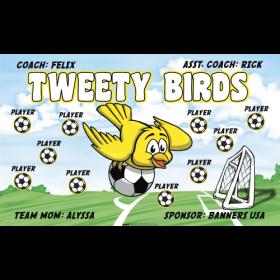 Tweety Bird Vinyl Soccer Banner - E-Z Order