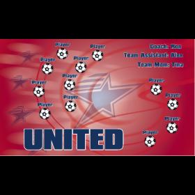 United Fabric Soccer Banner - E-Z Order