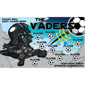 Vaders Vinyl Soccer Banner E-Z Order