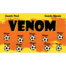 Venom Vinyl Soccer Banner - E-Z Order