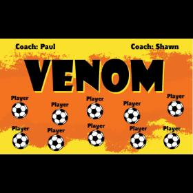 Venom Fabric Soccer Banner - E-Z Order