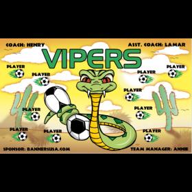 Vipers Vinyl Soccer Banner - E-Z Order