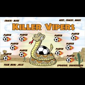 Vipers Killer Vinyl Soccer Banner - E-Z Order
