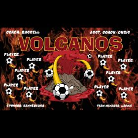 Volcanoes Fabric Soccer Banner - E-Z Order