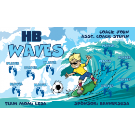 Waves HB Vinyl Soccer Banner - E-Z Order
