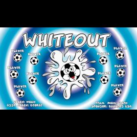 Whiteout Fabric Soccer Banner - E-Z Order