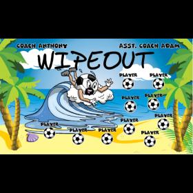 Wipeout Vinyl Soccer Banner E-Z Order