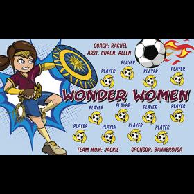 Wonder Women Vinyl Soccer Banner - E-Z Order
