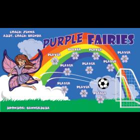Fairies Purple Vinyl Soccer Banner - Live Designer