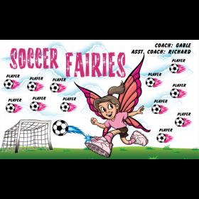 Fairies Soccer Fabric Soccer Banner - Live Designer