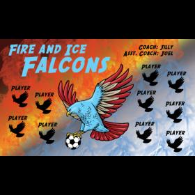 Falcons Fire Ice Vinyl Soccer Banner - Live Designer