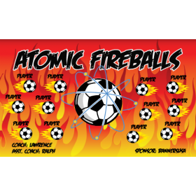 Fireballs Atomic Fabric Soccer Banner - E-Z Order
