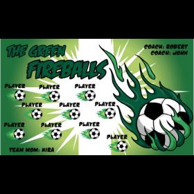 Fireballs Green Vinyl Soccer Banner - Live Designer
