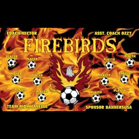 Firebirds Vinyl Soccer Banner - Live Designer