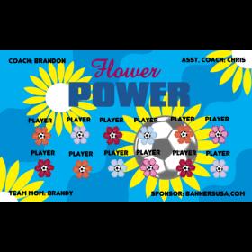 Flower Power Fabric Soccer Banner - E-Z Order