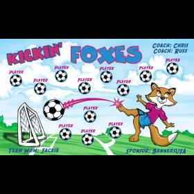 Foxes Kickin Vinyl Soccer Banner Live Designer