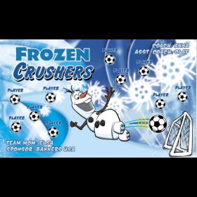 Frozen Crushers Fabric Soccer Banner - E-Z Order