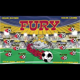 Fury Fabric Soccer Banner - E-Z Order
