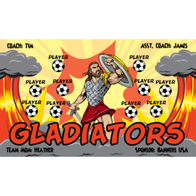 Gladiators Fabric Soccer Banner - Live Designer