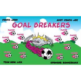 Goal Breakers Fabric Soccer Banner - E-Z Order