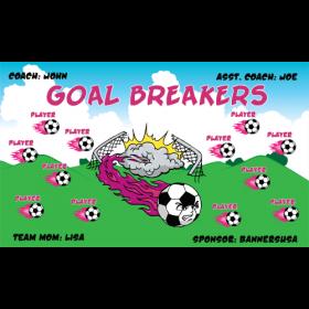 Goal Breakers Fabric Soccer Banner - Live Designer