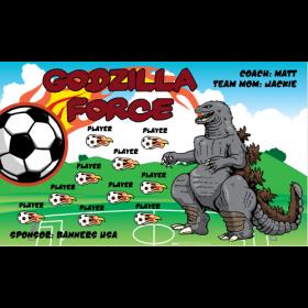 Godzilla Force Fabric Soccer Banner - E-Z Order