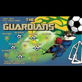 Guardians Fabric Soccer Banner - Live Designer
